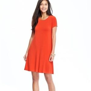 Old Navy M Coral Swing Dress